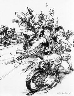 Comic Book Artists, Comic Artist, Comic Books Art, Junggi Kim, Character Art, Character Design, Gung Ho, Kim Jung, Sketch Inspiration