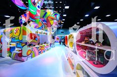 The graphic design details were pristine for the 2014 #ComicCon booth for Nickelodeon in San Diego