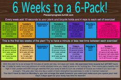 6 Weeks to 6 Pack Abs.... you ready for that ;)