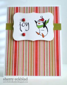 Penguin Re-Pete (Sku#G3061) Art Impressions winter holiday Christmas card