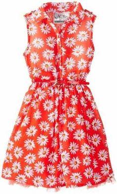 Beautees Little Girls' Shirt Waist Dress, Hot Coral, 4 Tween Fashion, Girl Fashion, Little Girl Dresses, Girls Dresses, Baby Dress, Dress Up, Cute Vintage Outfits, Chloe Dress, School Dresses