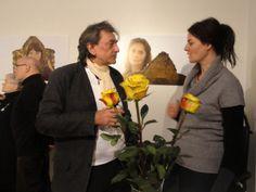09 Olaf Böhme mit der Galeristin Sybille Nütt zur Ausstellungseröffnung am 01.12.2013 17:00 im Barockviertel Dresden