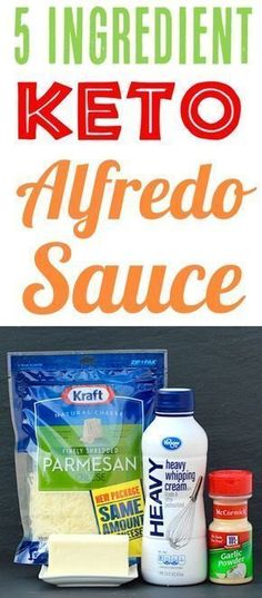 Keto Alfredo Sauce Low Carb Recipe! Just 5 ingredients and SO delicious!! Add it to your menu this week!
