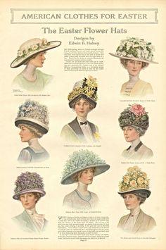 Easter Flower Hats 1912