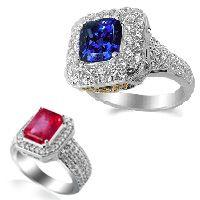 Diamant- Farbedelsteinringe versandkostenfrei bei www.juwelierhausabt.de bestellen.
