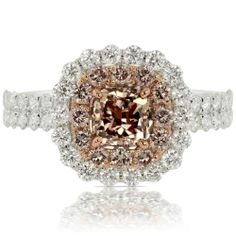 Pink Diamond Ring in 18K Rose and White Gold on HowHeAsked's Ring Finder