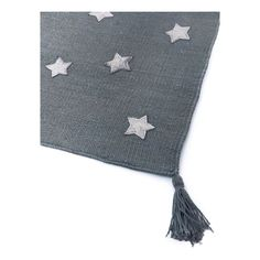 Grey Stars Cotton and Leather Rug-product