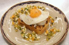 Marcus Wareing served up tasty poached haddock on toast with fried eggs and a polonaise sauce for today's skills test on MasterChef: The Professionals. See Monica's recipes in her book … Marcus Wareing, Sauce Recipes, Cooking Recipes, How To Cook Eggs, Seafood, Toast, Food And Drink, Breakfast, Sauces