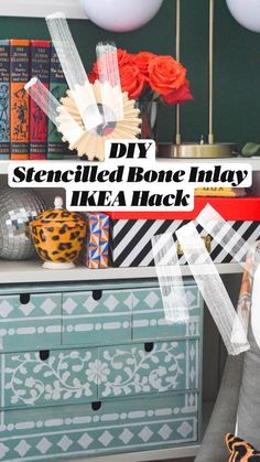Furniture Projects, Furniture Makeover, Diy Furniture, Painted Furniture, Diy Craft Projects, Diy And Crafts, Projects To Try, Stencil Diy, Stencils