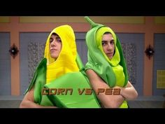 ▶ The Next Step Halloween Dance Battle - Corn vs. Pea. This is the best thing ever :)
