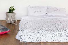 Feliz Home Sprinkle Sprinkle Charcoal Organic Cotton Doona Cover   Buy Online