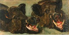 Jan Fyt:Studies of the head of a wild boar