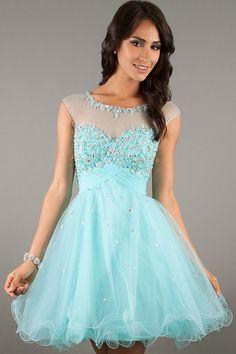 light blue short dress - Damas dresses - Pinterest - Short dresses ...