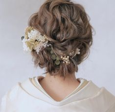 Trendy Hairstyles, Wedding Hairstyles, Western Hair, Japanese Wedding, Hair Arrange, Nude Makeup, Black Curly Hair, Wedding Looks, Wedding Hair Accessories