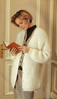Women's Sweaters, Cardigans, Winter Chic, Mohair Sweater, White Cardigan, Vintage Wool, Submissive, Pulls, Coats