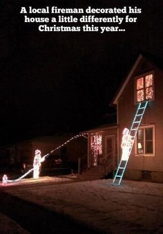 Firefighter decorations, Tim we need to do this!