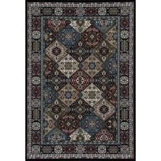Traditional Premium Quality Patchwork Design Area Rug, 022
