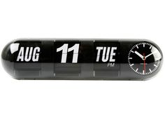 Table clock Flip Tube plastic. comes in black or white