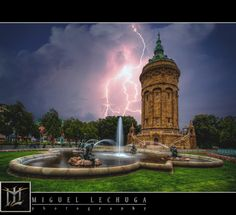 Mannheim's Wasserturm by Storm by Miguel Lechuga on 500px