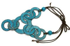 Fique Rings Necklace with Earrings   http://www.enloops.com/Fique-Rings-Necklace-with-Earrings/dp/B009I9IQ5U