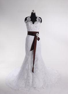 Charming Sleeveless Trumpet Floor-length wedding dress
