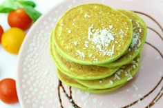 Avocado and spinach pancakes