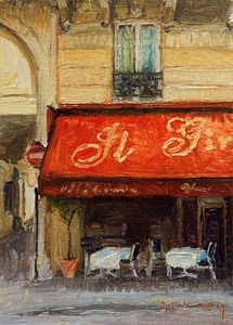 Paul Ferney :: Paris Cafe in the 7th