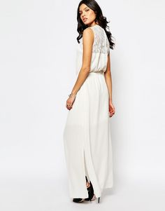 White Maxi and Lace Dress from ASOS