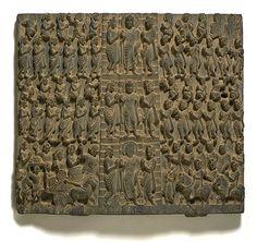 Sankassa descent of the Buddha.Gandhara.250AD