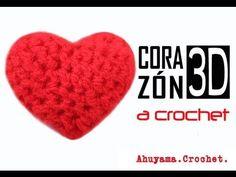 ▶ Corazón 3D a crochet - paso a paso - YouTube