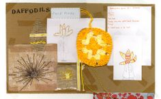 Moodboard for daffodils window display by Seasalt window team.