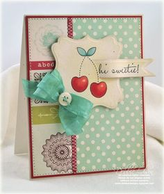 sweet sweetie card (love the sentiment cut into the image)