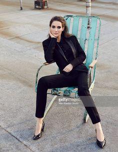 Photo d'actualité : Lisa Jachno. Wool Jacket, Silk shirt, Wool...