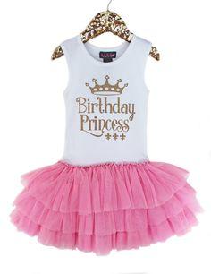 Birthday Princess Tutu Dress Girls Birthday Tutu Dress by madgrrl