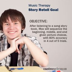 Music Therapy IEP Goal for Story Retell- Coast Music Therapy