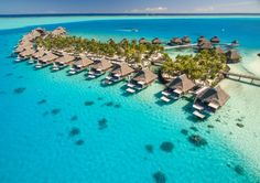 Opulent Honeymoon Package – featuring the Hilton Moorea and the Conrad Bora Bora Nui Resort Tahiti Vacations, Bora Bora Hotels, Bora Bora Honeymoon, Vacation Trips, Vacation Spots, Honeymoon Packages, Vacation Packages, Exotic Beaches, Resort Villa