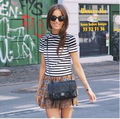 Nice with the striped shirt and the flowerprint together. bbf93034ed00d
