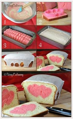 Recipe: Valentine's Day Peek-A-Boo Pound Cake step by step - Very Culinary