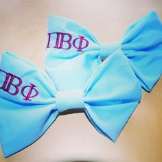 Wine and silver blue Pi Phi bows #piphi #pibetaphi