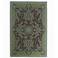 Reclaimed Teal & Brown Oriental Rug - Available in Three Sizes