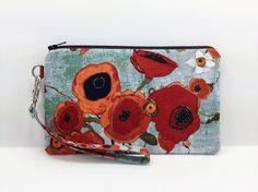 Poppy Flowers Wristlet Wallet Cell Phone Purse by ZestyNotion