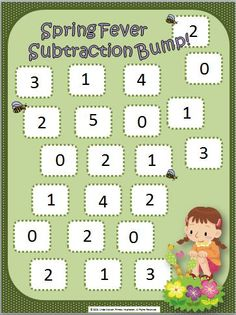 FREE Spring will be here before you know it. Time for a free subtraction game!