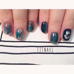 ◽️◻️▫️⬜️▫️ #nail#art#nailart#ネイル#ネイルアート#翡翠#green#emerald#nuance#ennui#ショートネイル#nuance111#ネイルサロン#nailsalon#表参道#大理石111