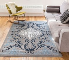 Zephyr Blue Traditional Oriental Sarouk Medallion Modern Casual Floral 8x10 ( 7'10' x 9'10' ) Area Rug Thick Soft Plush Shed Free * You can get additional details at the image link. (This is an affiliate link) #DIYHomeDecor