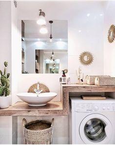32 Inexpensive Tiny Laundry Room Design Ideas for a Fresh Look 3 32 Inexpensive Tiny Laundry Room Design Ideas – Common Decorating for a Fresh Look White Bathroom, Modern Bathroom, Small Bathroom, Shiplap Bathroom, Minimalist Bathroom, Tiny Laundry Rooms, Laundry Room Design, Casa Milano, Bathroom Cabinet Organization