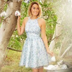 Disney's Cinderella a Collection by LC Lauren Conrad Organza Bow-Back Dress - Women's