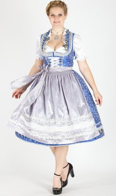 Kruger Manukaktur midi dirndl blue buy with springs 38 in costume heaven - Dirndl and costume costumes sky