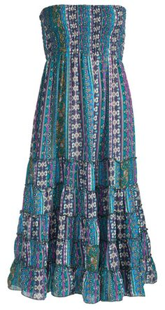 bd58f55a305 Hippy Dress Ethnic Strapless Dress Panel Print Multiway Skirt Dress Fair  trade by Folio Gothic Hippy