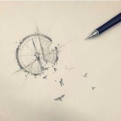 Compass tattoo design @ Instagram