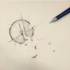 Compass tattoo design @ Instagram